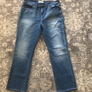 Madewell kick out crop jeans,Thom wash, size 29
